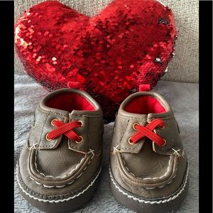 Carter's Baby Boys Brown Shoes 3 to 6 months Sz 2